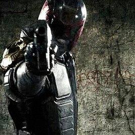 """Schießendes """"Judge Dredd""""-Poster"""