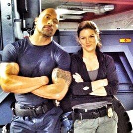 """Erstes Foto von Dwayne Johnson und Gina Carano am Set von """"Fast & Furious 6"""""""