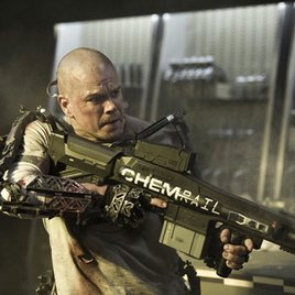 "Matt Damon im ""Terminator""-Look in ""Elysium"""