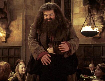 Harry Potter Riese Hagrid Muss 50 Kilo Abnehmen Kino De