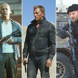 Bruce Willis vererbt Action-Krone an Daniel Craig und Jason Statham