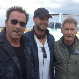 """Erstes Foto von Harrison Ford beim """"Expendables 3""""-Dreh"""