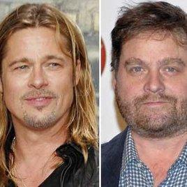 Zach Galifianakis quält Brad Pitt