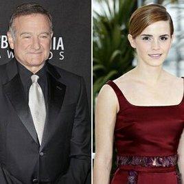 Robin Williams & Emma Watson in Twitter- & Facebook-Charts