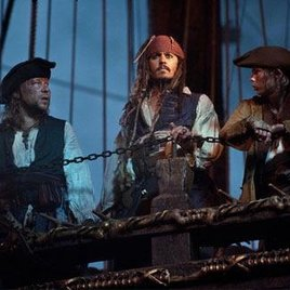 Fünf Ladies gegen Jack Sparrow