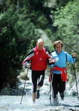 Nordic Walking mit Rosi Mittermaier und Christian Neureuther