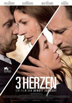 3 Herzen Poster