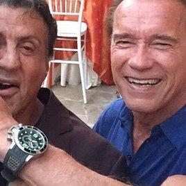 Schwarzenegger feiert mit Stallone Geburtstag