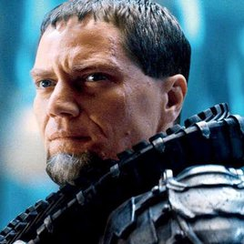 General Zod reicht Superman die Flosse
