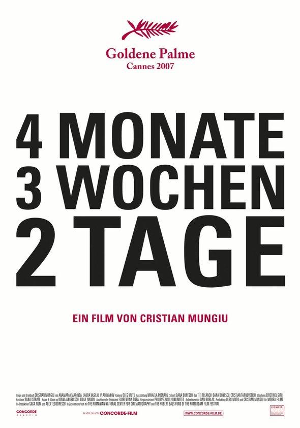 4 Monate, 3 Wochen, 2 Tage Poster