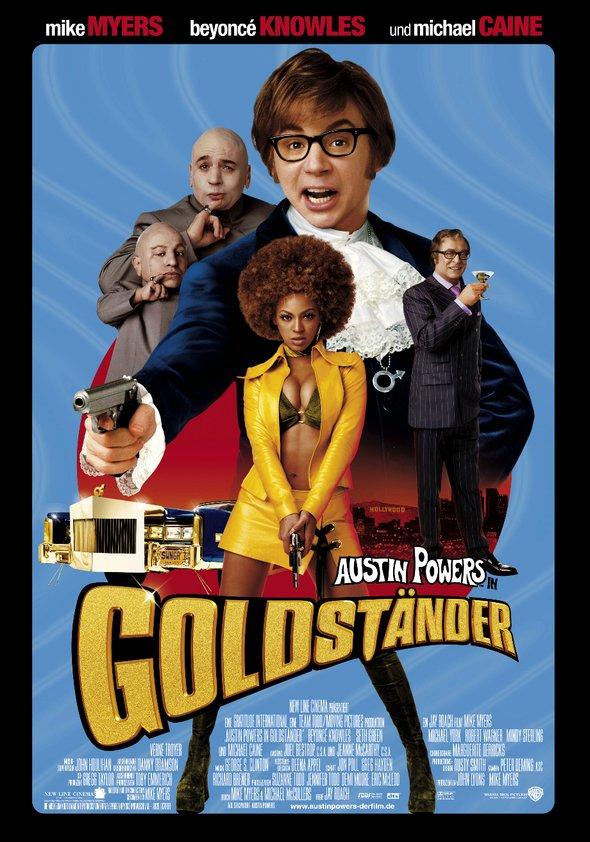Austin Powers in Goldständer Poster