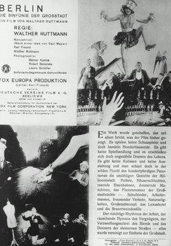 Berlin, die Sinfonie der Großstadt Poster