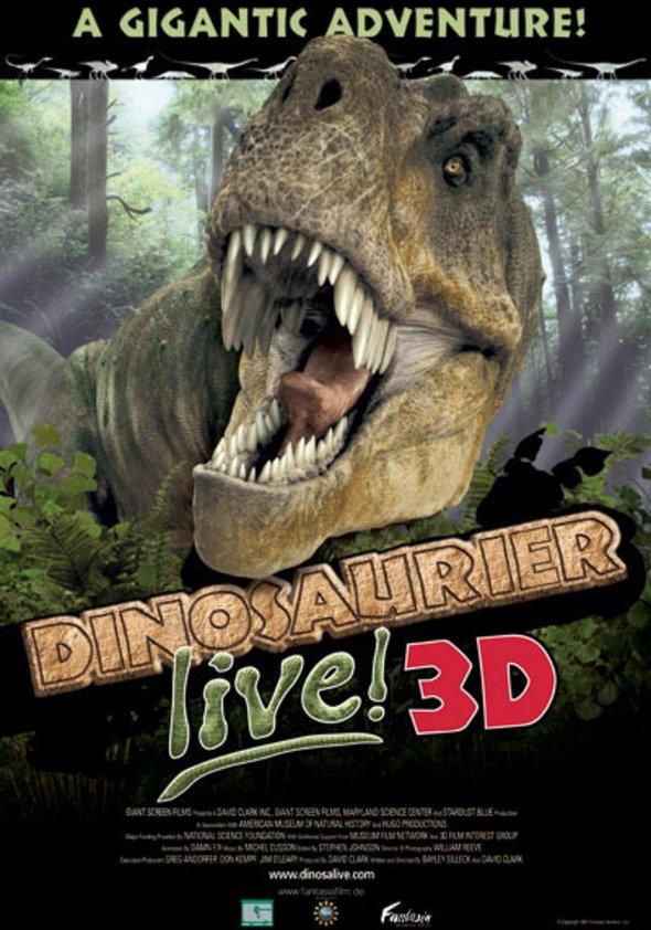 Dinosaurier live 3D - Fossilien zum Leben erweckt Poster