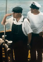 Drei Mann in einem Boot Poster