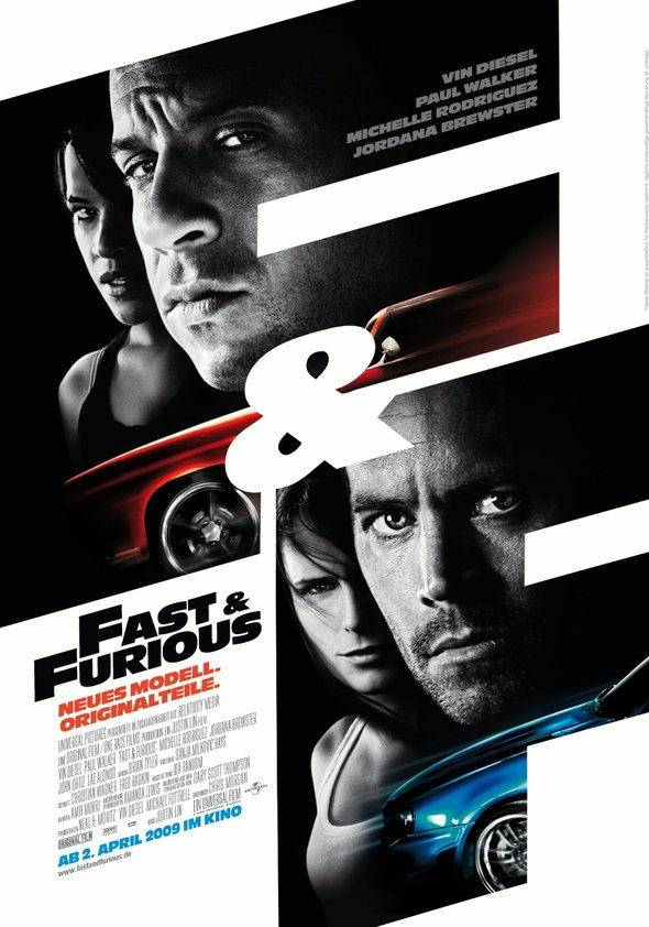 Fast & Furious - Neues Modell. Originalteile Poster