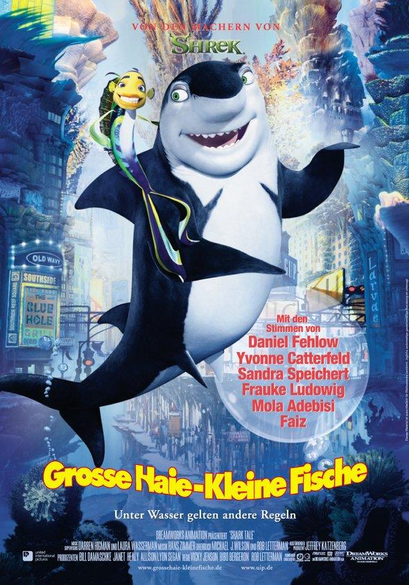 Große Haie - kleine Fische Poster
