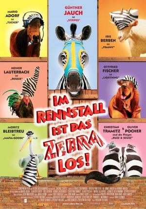 Im Rennstall ist das Zebra los! Poster