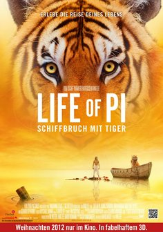 Life of Pi - Schiffbruch mit Tiger Poster