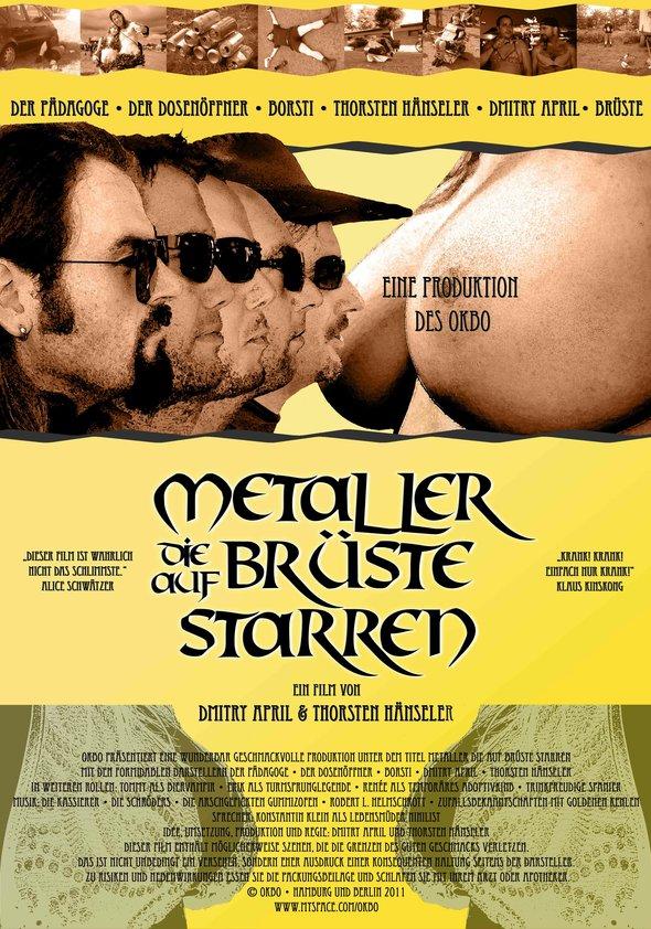 Metaller die auf Brüste starren Poster