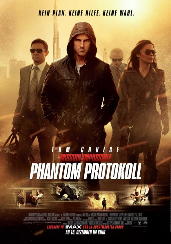 Mission: Impossible - Phantom Protokoll Poster