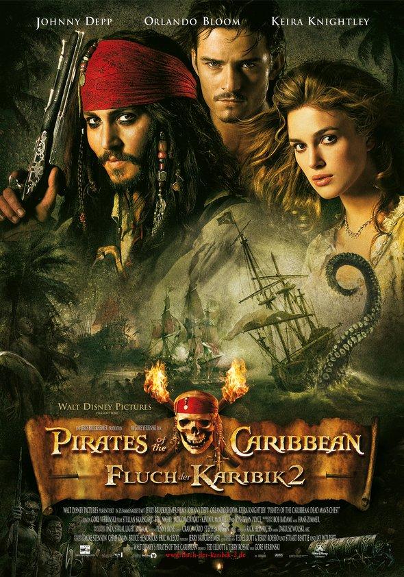 Pirates of the Caribbean - Fluch der Karibik 2 Poster