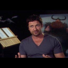 """GERARD BUTLER - """"Haudrauf - der Stoische"""" (Original-Stimme) über die verschiedenen Drachenarten - OV-Interview"""