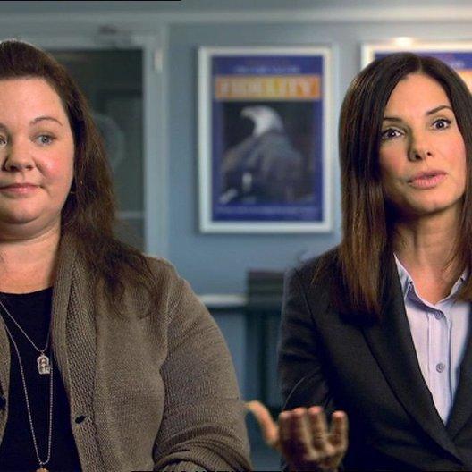 Sandra Bullock - Ashburn - und Melissa McCarthy - Mullins - über die Improvisation im Film - OV-Interview