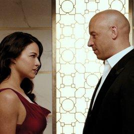 "Michelle Rodriguez in geschnittener Szene aus ""Fast & Furious 7"""