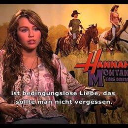 Miley Cyrus (Hannah Montana) über die große Bedeutung von Familie, ihre Heimat Nashville und den Spaß beim Filmdreh. - Interview