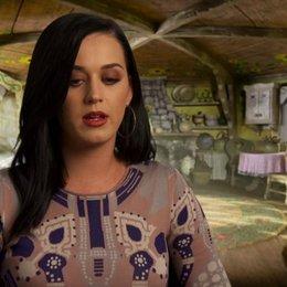 Katy Perry -Schlumpfine (USA)- darüber, wie der erste Teil mit dem Zweiten zusammenhängt - OV-Interview