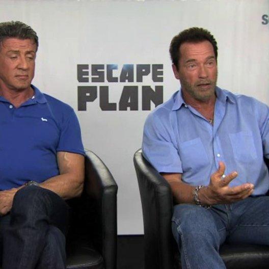 Stallone und Schwarzenegger über Emil Rottmayer - OV-Interview
