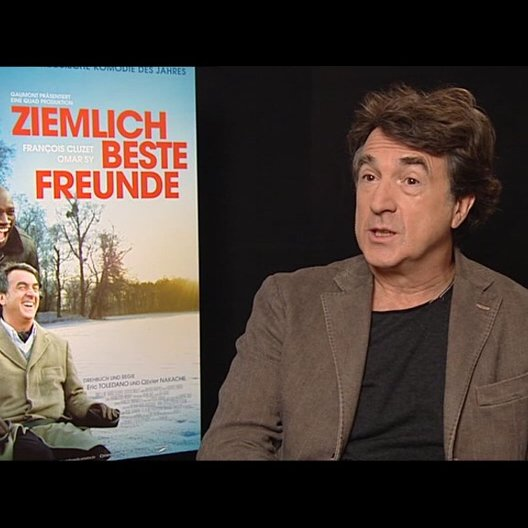 Francois Cluzet (Philippe) über die Zusammenarbeit mit zwei Regisseuren die wie Brüder sind - OV-Interview