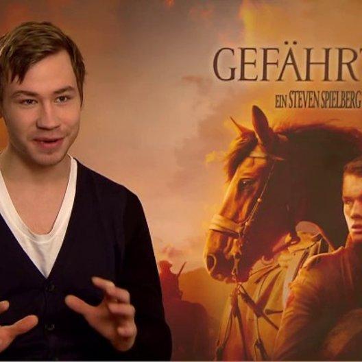 David Kross (Gunther) über das Pferd Joey - Interview