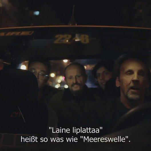 Im finnischen Taxi - Szene