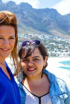 Einfach Rosa: Wolken über Kapstadt