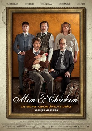 Men & Chicken Poster
