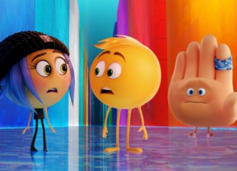 """Die drei Emojis Gene, Jailbreak und Hi-5 in dem Animationsfilm """"Emoji - Der Film"""" © Sony"""