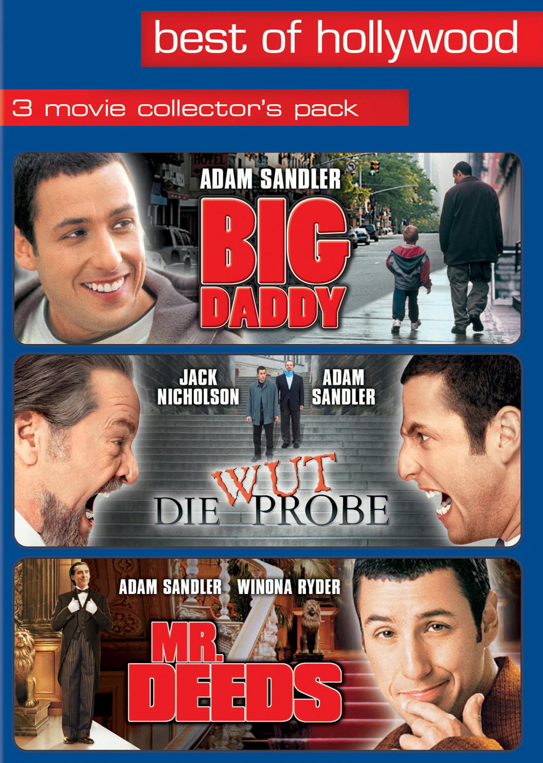 Best of Hollywood - 3 Movie Collector's Pack: Big Daddy / Die Wutprobe / Mr. Deeds (3 DVDs) Poster