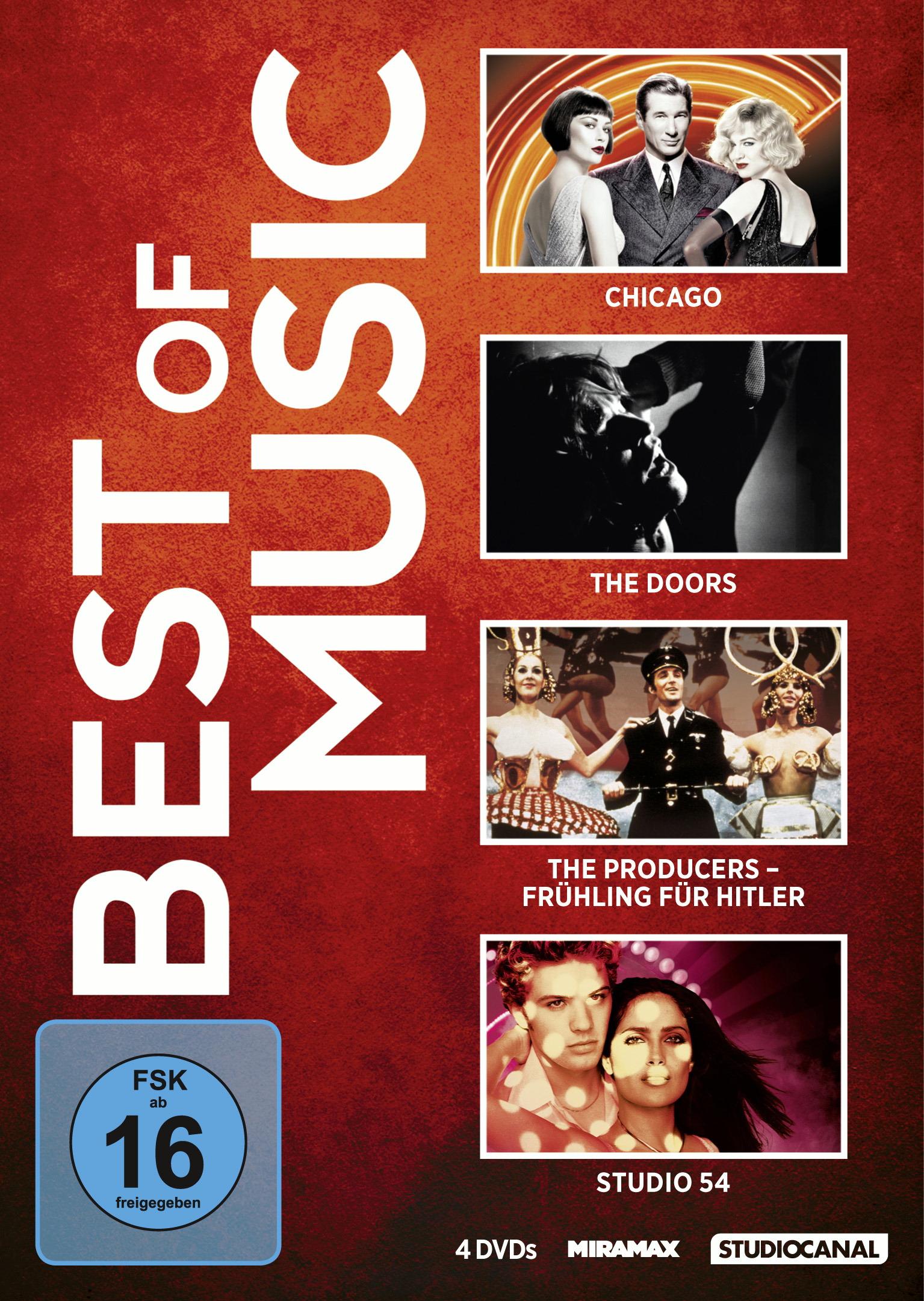 Best of Music: Chicago / Studio 54 / The Doors / The Producers - Frühling für Hitler (4 Discs) Poster