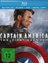 Captain America: The First Avenger (Blu-ray 3D, + Blu-ray 2D, + DVD, inkl. Digital Copy) Poster