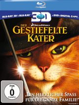 Der gestiefelte Kater (Blu-ray 3D, Blu-ray 2D, + DVD, inkl. Digital Copy) Poster