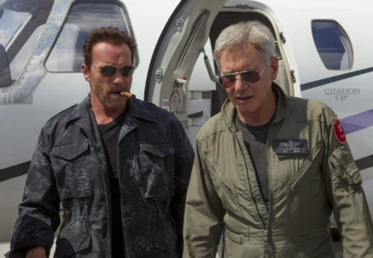 "Arnold Schwarzenegger und Harrison Ford in ""The Expendables 3"" © Splendid (Fox)"