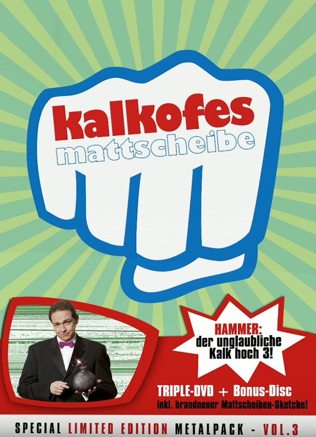 Kalkofes Mattscheibe Vol. 3 (Special Limited Edition, 4 DVDs, Metalpack) Poster