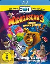 Madagascar 3: Flucht durch Europa (Blu-ray 3D, + Blu-ray 2D, + DVD, 3 Discs) Poster