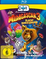 Madagascar 3: Flucht durch Europa (Blu-ray 3D) Poster