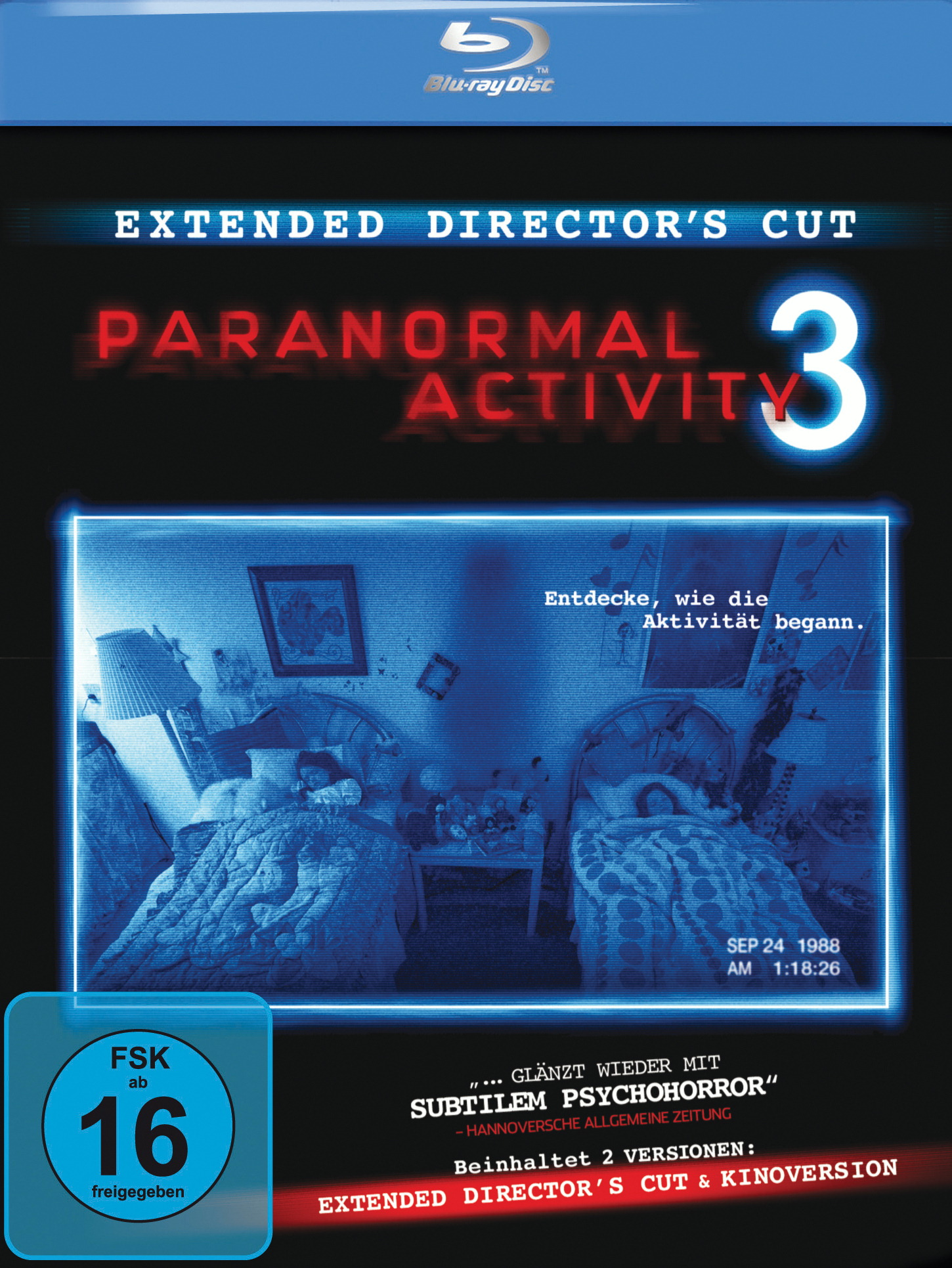 Paranormal Activity 3 (Extended Director's Cut, + Kinoversion, inkl. Digital Copy) Poster