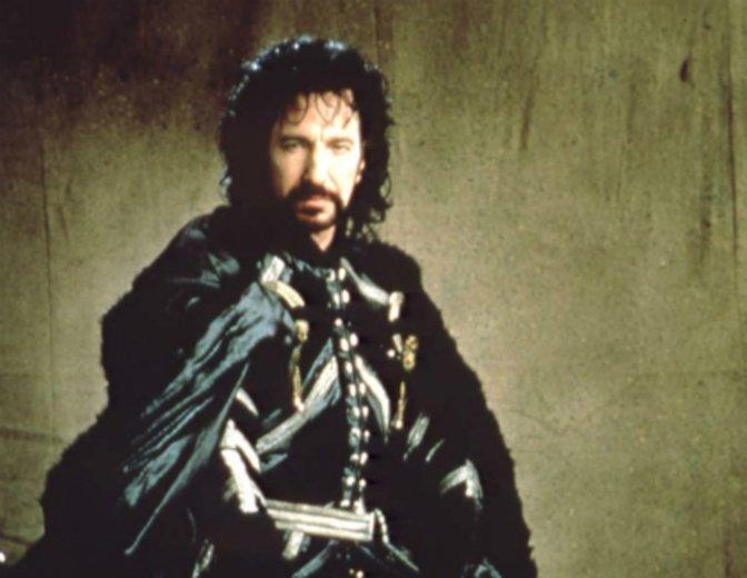 """Alan Rickman als durchtriebener Sheriff von Nottingham in """"Robin Hood - König der Diebe"""" © Warner / Concorde"""