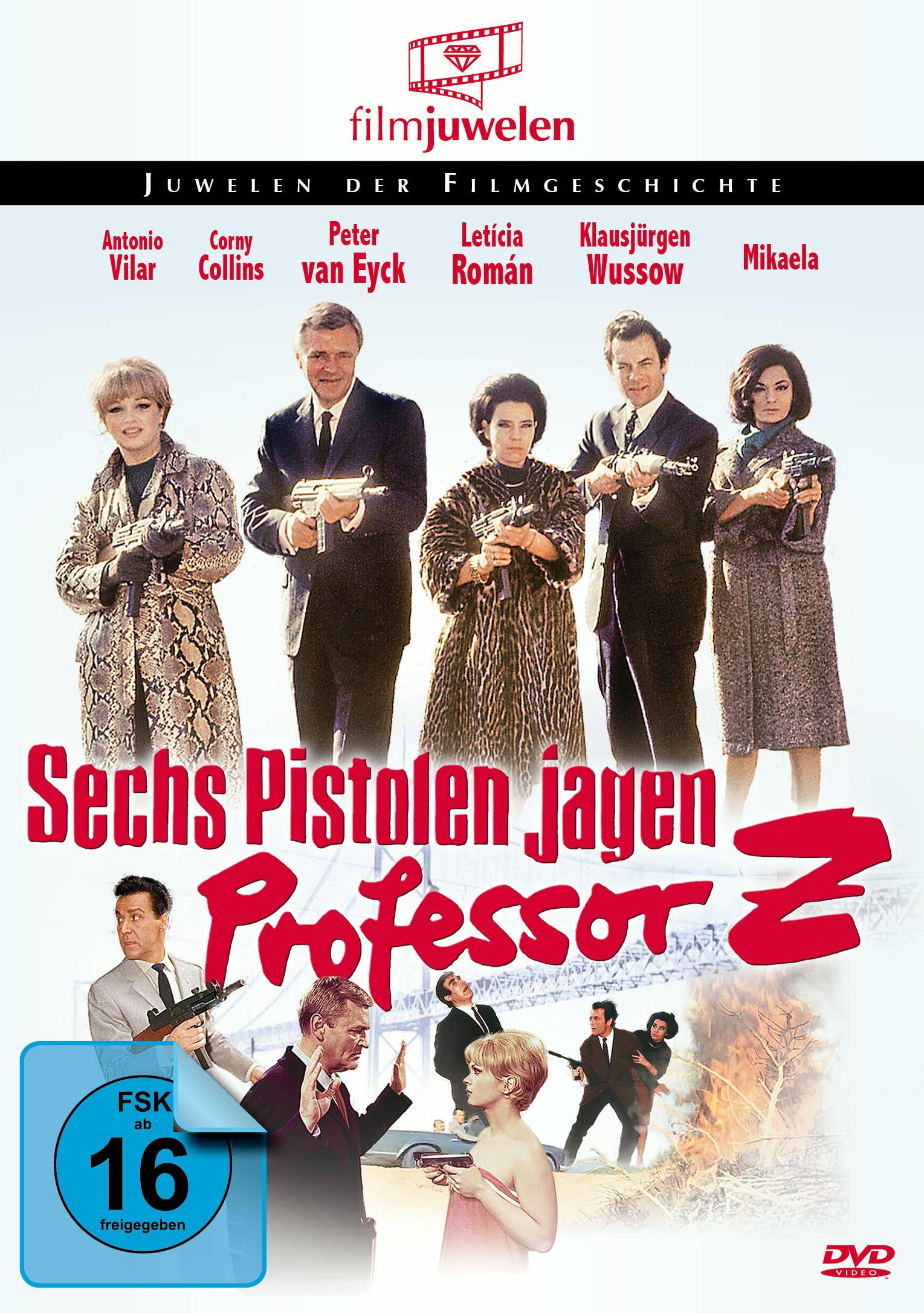 Sechs Pistolen jagen Professor Z Poster