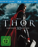 Thor (Blu-ray 3D, Blu-ray 2D, + DVD, inkl. Digital Copy) Poster