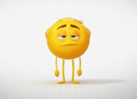 """Ein gelangweiltes Emoticon aus dem Animationsfilm """"Emoji - Der Film"""" © Sony"""